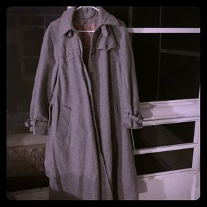 VINTAGE WOOL TRENCH COAT SIZE L